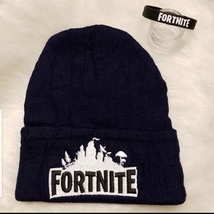 Other - Fortnite NAVY BLUE embroidered beanie